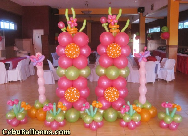 Flowers & Butterflies Balloon Decor Package at Hannah's Place