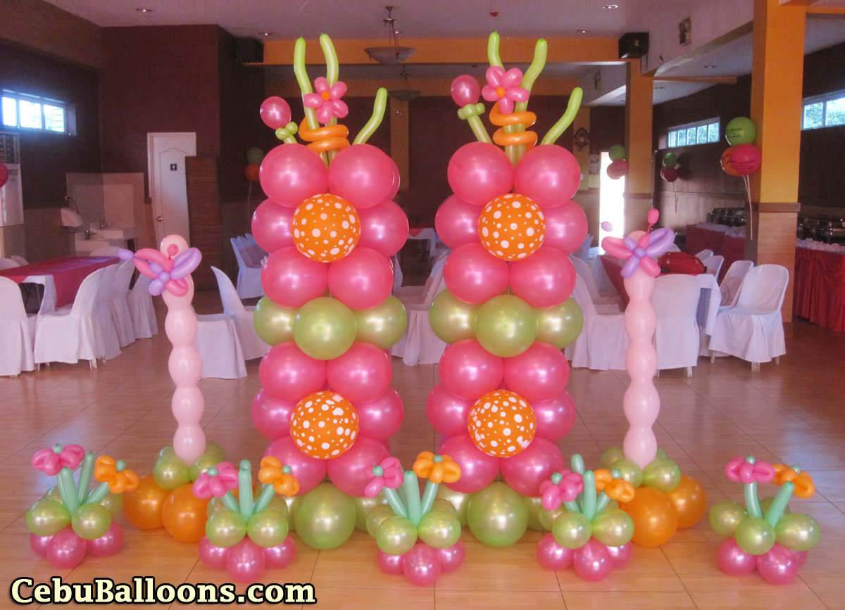 Flowers butterflies cebu balloons and party supplies for Decoration flowers