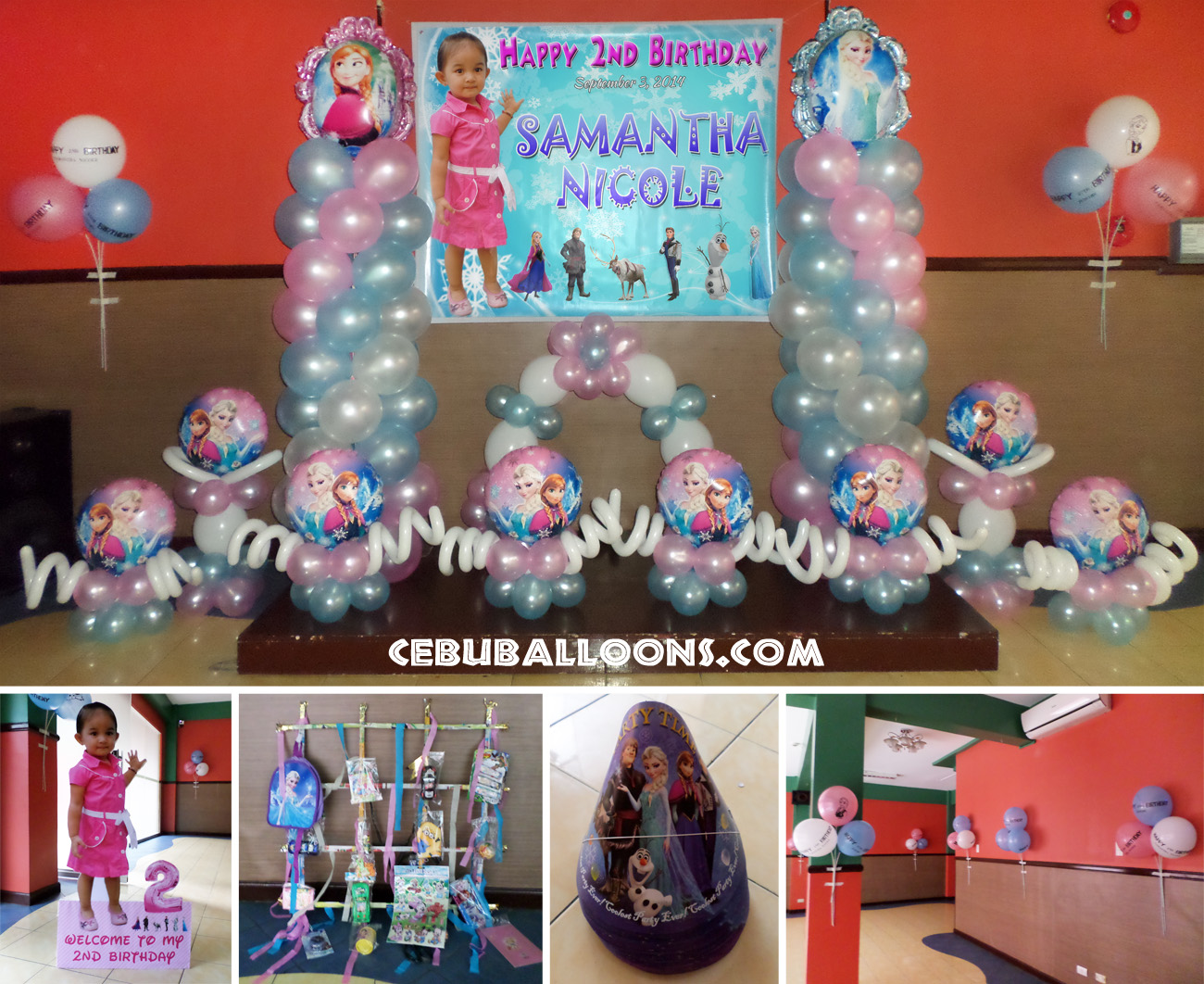 Frozen Theme Balloons Party Supplies At Hannahs Place Ground