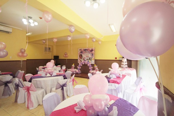 Girl's Christening Balloon Decoration at Hannah's