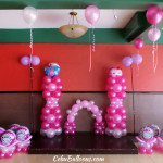 Hello Kitty-Girl Christening Balloon Setup at Hannah's Function Room Ground Floor