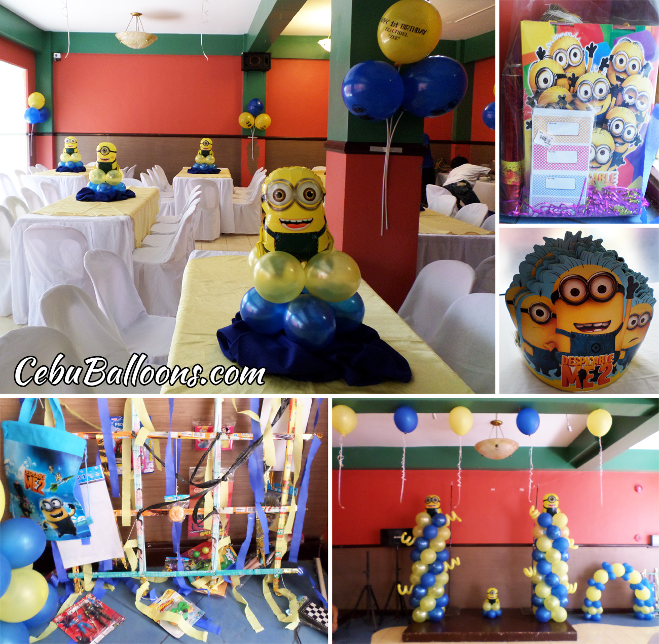 Minions First Birthday Decorations