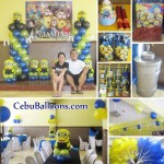 Minions Theme Balloon Decoration with Party Package at Hannah's Party Place