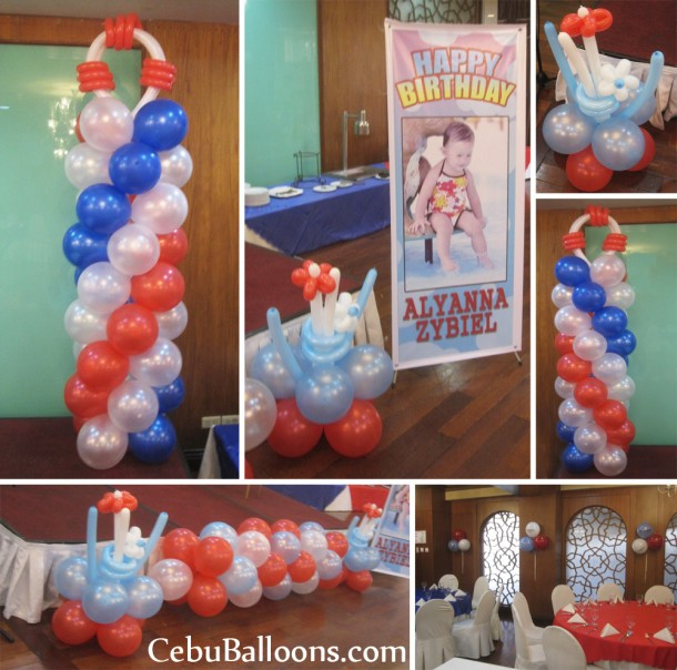 Nautical Theme Balloon Decoration at Casino Espanol (Granada)jpg