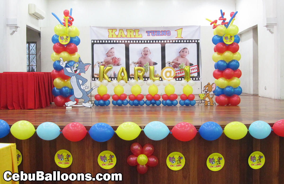 Tom and jerry cebu balloons and party supplies for Balloon birthday decoration