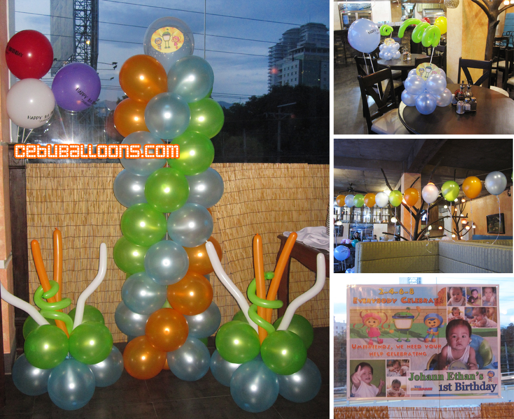 Umizoomi cebu balloons and party supplies for Balloon decoration packages