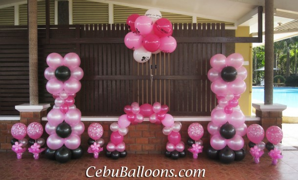 Glamour Balloon Decoration at Gallego Private Resort