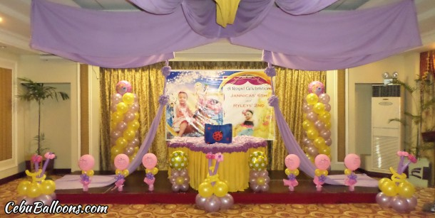 Rapunzel Theme Balloon Decoration at Sarrosa Hotel (Tanzanite Room)