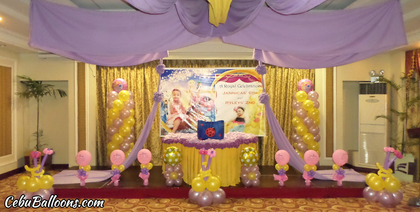 Tangled rapunzel cebu balloons and party supplies for Room decor ideas with balloons