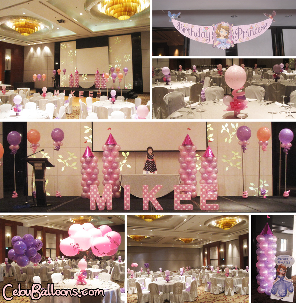 Sofia The First Balloon Decoration Package At Radisson Blu
