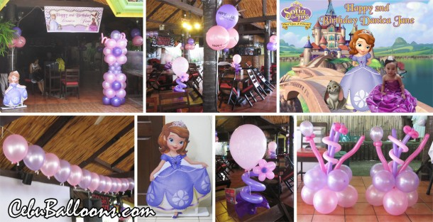 Sofia the First Balloon Decoration at Yayoy's Grill