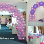 Sofia the first Balloon Decoration (Pink and Purple) at Diamond Hall in Metro Park Hotel