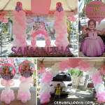 Sofia the first Balloon & Styro Decoration with Party Supplies at Buagsong Cordova