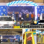 Balloon Arch with Snowflakes & Snowman at Metaphil