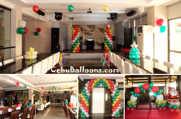 Christmas theme Birthday Party Decoration at Aicila Suites Roofdeck