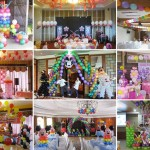 Composite image of Projects done by Cebu Balloons