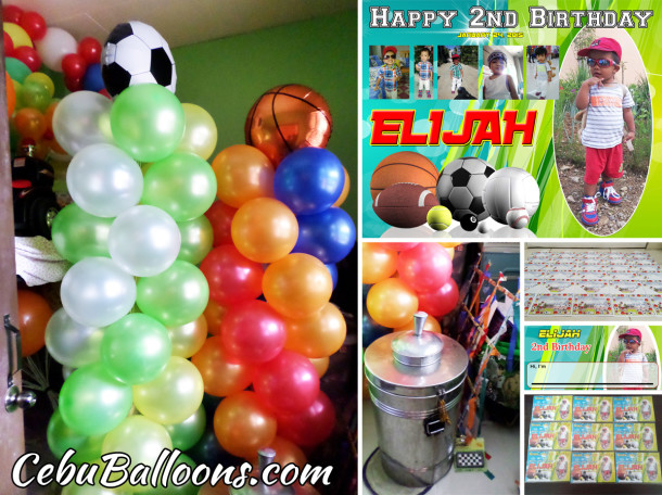 Sporty theme Balloon Decoration, Party Package and Giveaways at DCP Townhomes