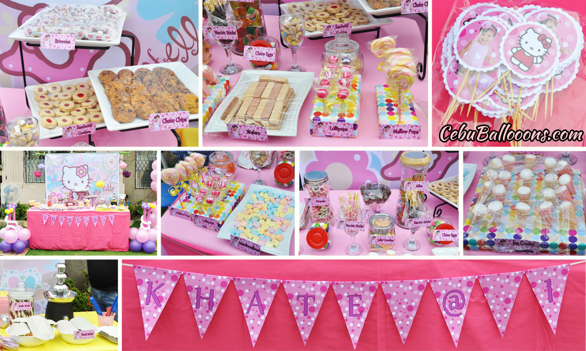 Hello Kitty Candy Sweets Buffet Cebu Balloons and Party Supplies