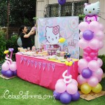 Hello Kitty - Dessert Buffet with Lisa at 7 months pregnant