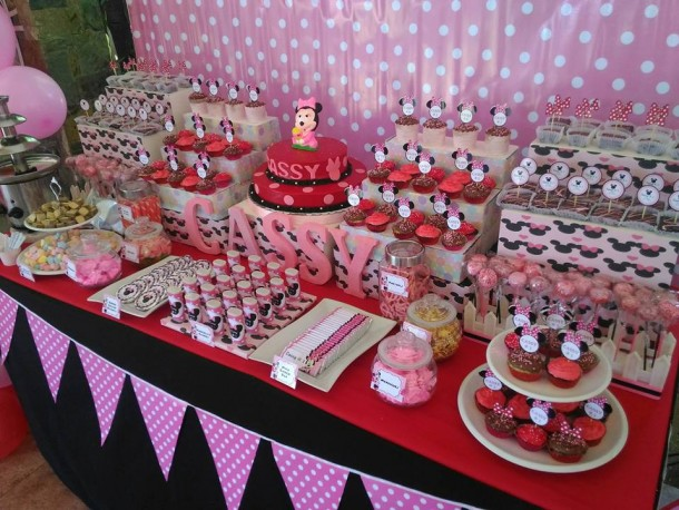 Minnie Mouse Dessert Buffet Package for Cassy