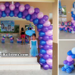 Balloon Decor Frozen Theme (Choi-choi) with Clown, Magician & Face-painter at Happy Homes, Lapulapu
