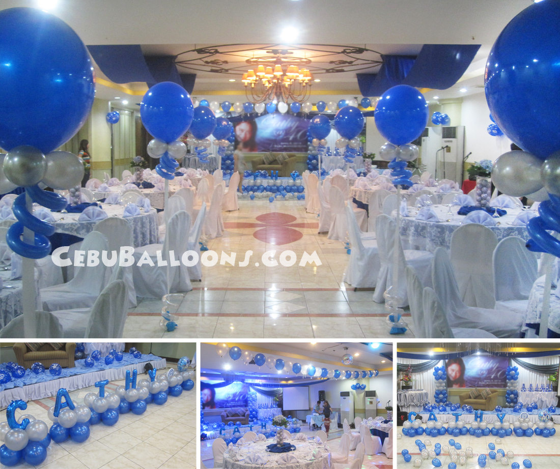 Balloon Decoration Package for 40th Birthday at Cebu Business Hotel