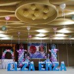 Ceiling Balloons & Stage Decoration at City Suites Ramos
