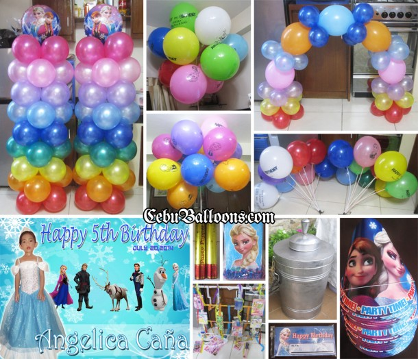 Colorful Disney Frozen Theme Balloon Decoration & Party Package (Angelica)