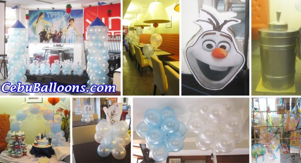 Composite - Frozen Theme Decoration and Birthday Party Package