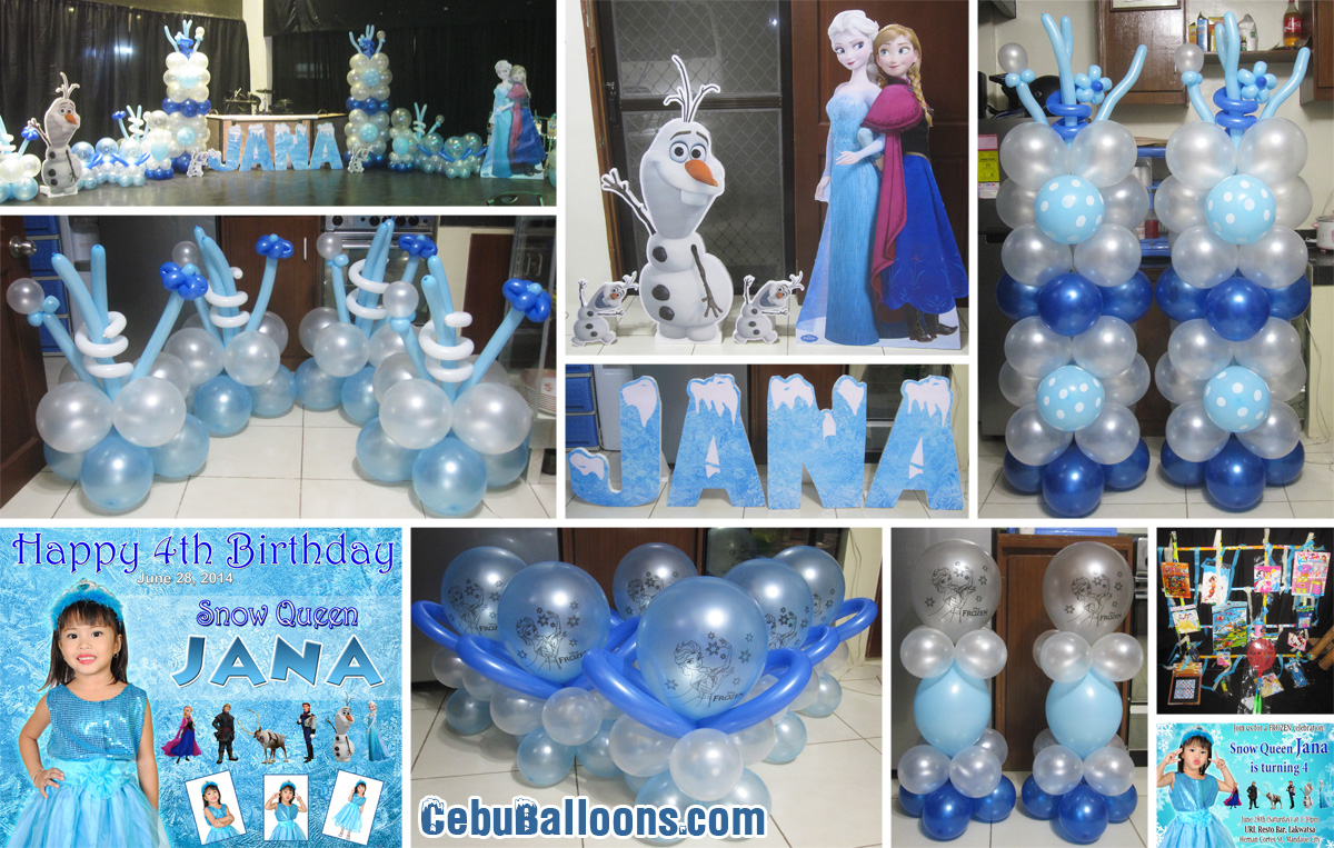 Disney Frozen Balloon Decoration Styro Backdrop Party