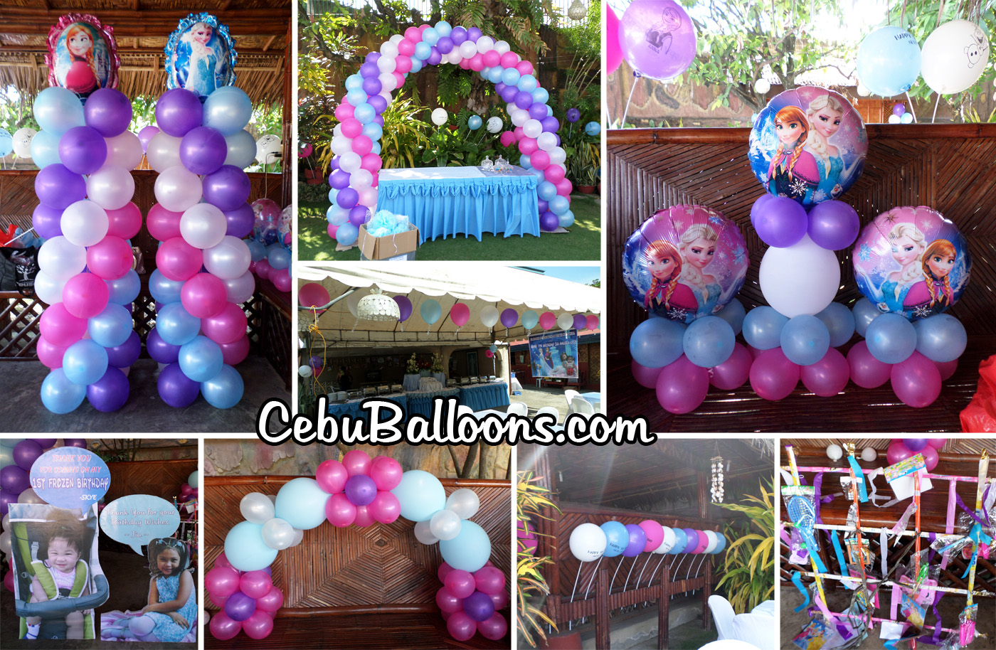 Disney Frozen Balloon Decoration With Party Items At Mama Dals Place