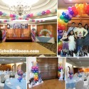 Disney Frozen Balloon Decors and Styro Art at Casino Espanol Barcelona Room