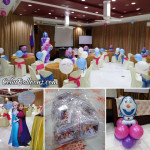 Disney Frozen Balloon Decors with Giveaways and Clown at Alta Cebu Resort