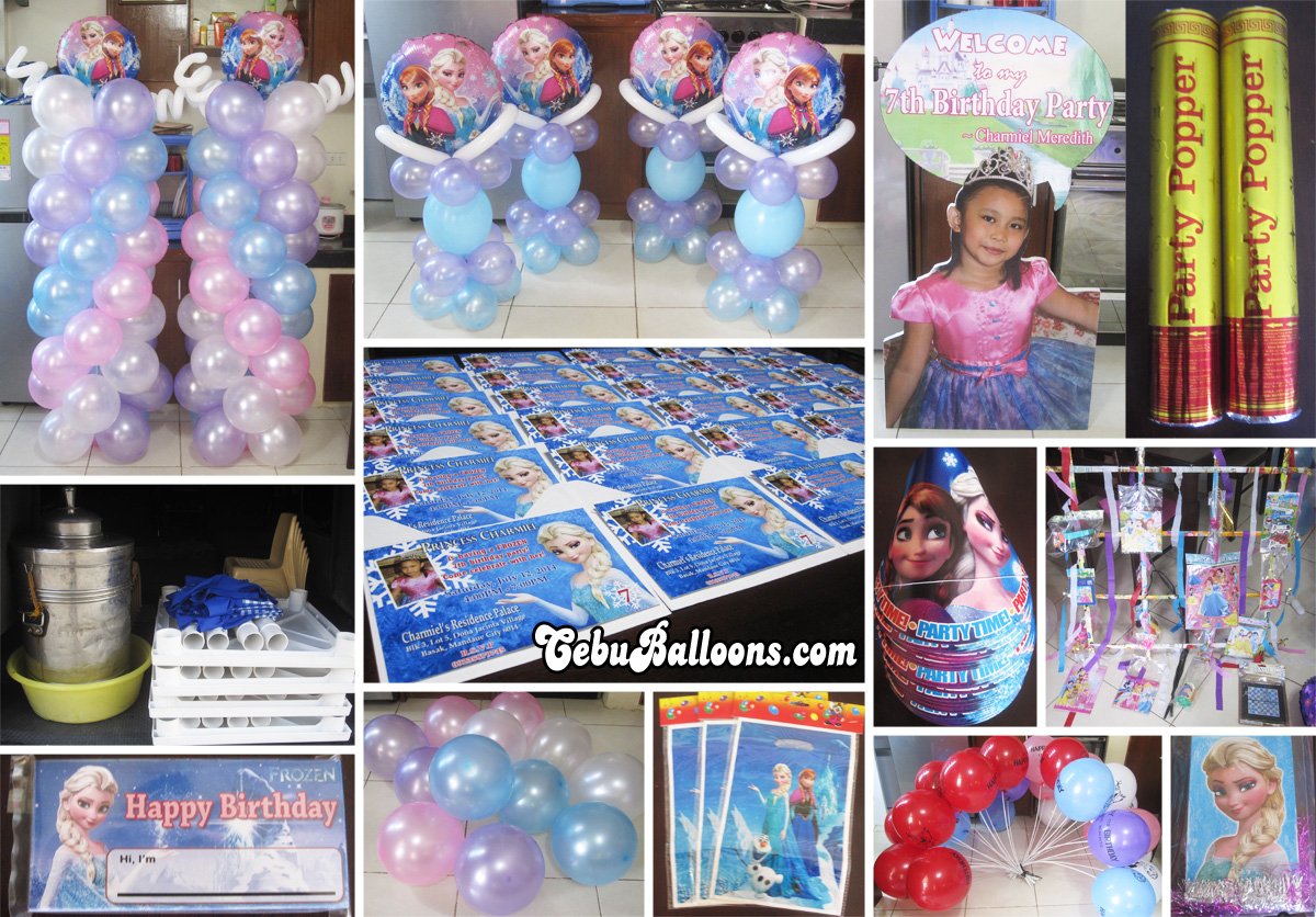 Disney frozen party package and balloon decoration at dona for Balloon decoration packages manila