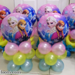 Elsa & Anna Centerpieces (Pink, Yellow, Light Blue)