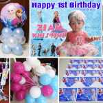 Frozen Party Supplies for Zian Kristine