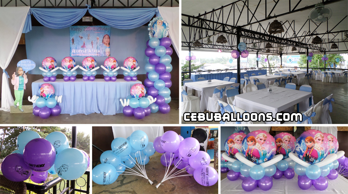 Frozen disney cebu balloons and party supplies for Balloon decoration packages manila
