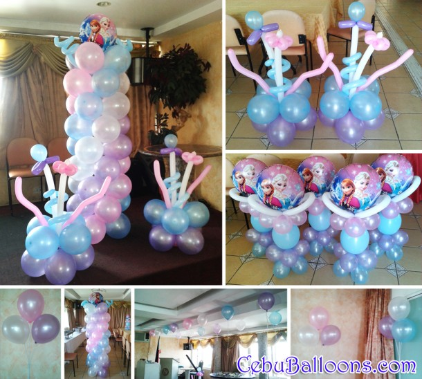 Frozen theme balloon decoration for 1st birthday at ns for 1st birthday balloon decoration images