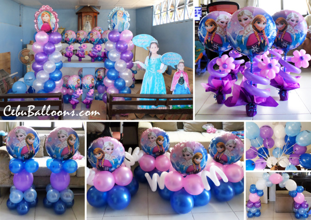 Frozen Theme Balloon Decors with Celebrant Standees at Catarman Liloan