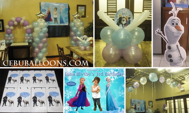 Frozen Theme Decoration at Golden Cowrie (Lahug Branch)