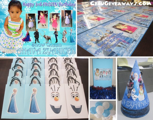 Frozen Theme Personalized Birthday Items