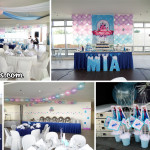 Frozen-theme Decors for Desserts, Ceiling, Tables & Entrance