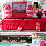 Valentines 2015 Balloon Decor for a Birthday at Metro Park Hotel (Pool Area)