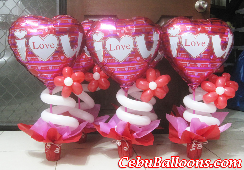 Valentines cebu balloons and party supplies for Balloon decoration for valentines day