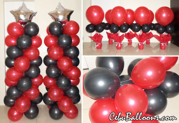 Balloon Decors for  Jake & The Neverland Pirates (Red & Black)
