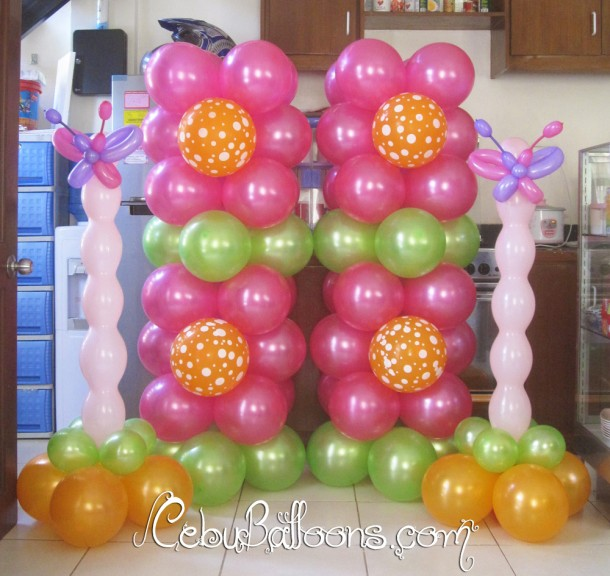 Butterfly Amp Flower Balloon Decoration Cebu Balloons And