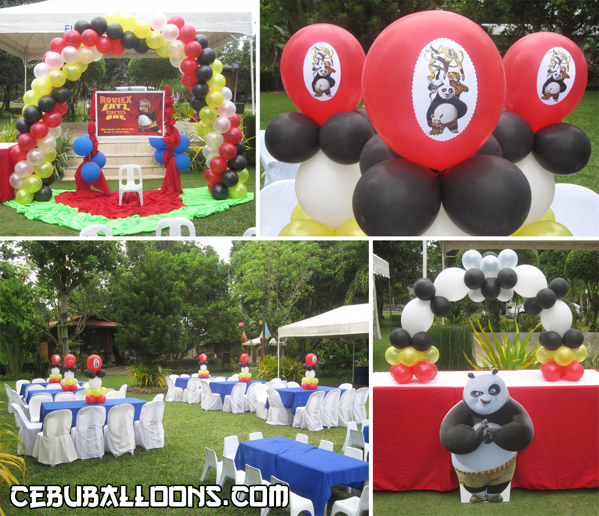 Decorating an outdoor party venue with balloons | Cebu Balloons and ...