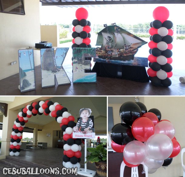 Pirate Balloons and Styro Decorations at Ajoya Clubhouse