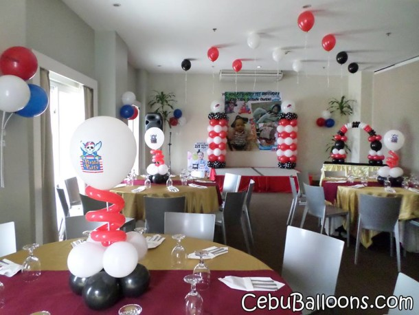 Pirate Theme Balloon Decors at BE Resort
