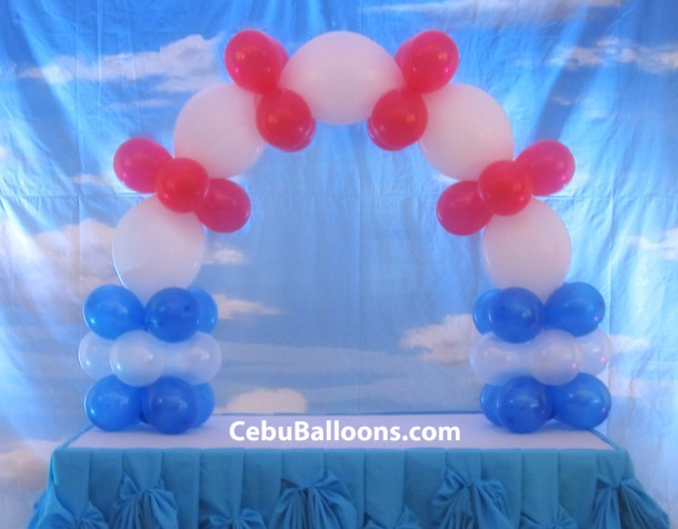 Cake Arch for Aviation or Nautical Theme